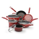Rachel Ray Ceramic Cookware red