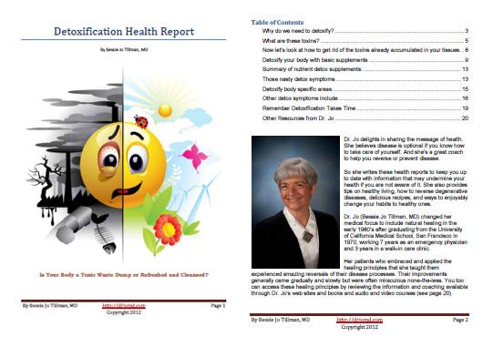 Dr. Jo's Detoxification Health Report