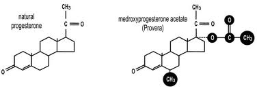 Comparison of Natual Progesterone and Synthetic Progestins
