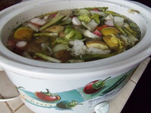 healthy broth to soothe the gut